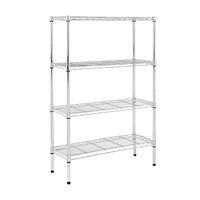 Stainless steel wire bathroom kitchen storage rack multifunctional home metal storage shelf organizer
