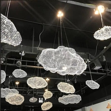 Creative Wire Mesh Drijvende Wolken Hanglamp <span class=keywords><strong>Verlichting</strong></span> Licht Voor Hotel