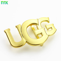 accept customer's logo brand metal letters plate belt buckle