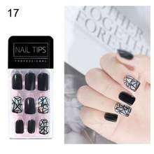 30 шт, профессиональные ультра-тонкие накладные ногти, полное покрытие, искусственные ногти, маникюр, искусство для накладных ногтей, красив...(Китай)