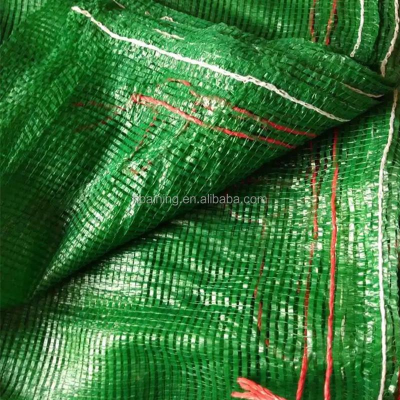 पॉलीप्रोपाइलीन प्लास्टिक बुना जलाऊ लकड़ी बोरियों/पाम फल फसल काटने की मशीन पीपी बुना जाल बैग