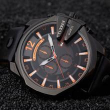 Curren 8176, мужские часы, Топ бренд, роскошные золотые мужские часы, модные, кожаный ремешок, для улицы, повседневные, спортивные, наручные часы с ...(Китай)