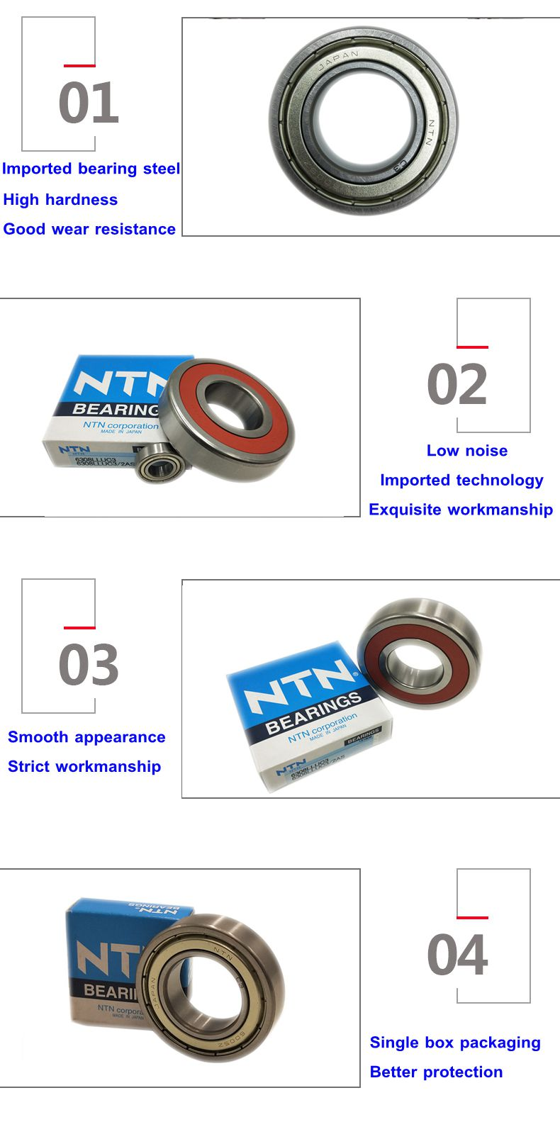 Cheap price NTN deep groove ball bearing 6000 6001 6002 6003 6004 6005 LLU ZZ P0 precision NTN bearing for Ukraine