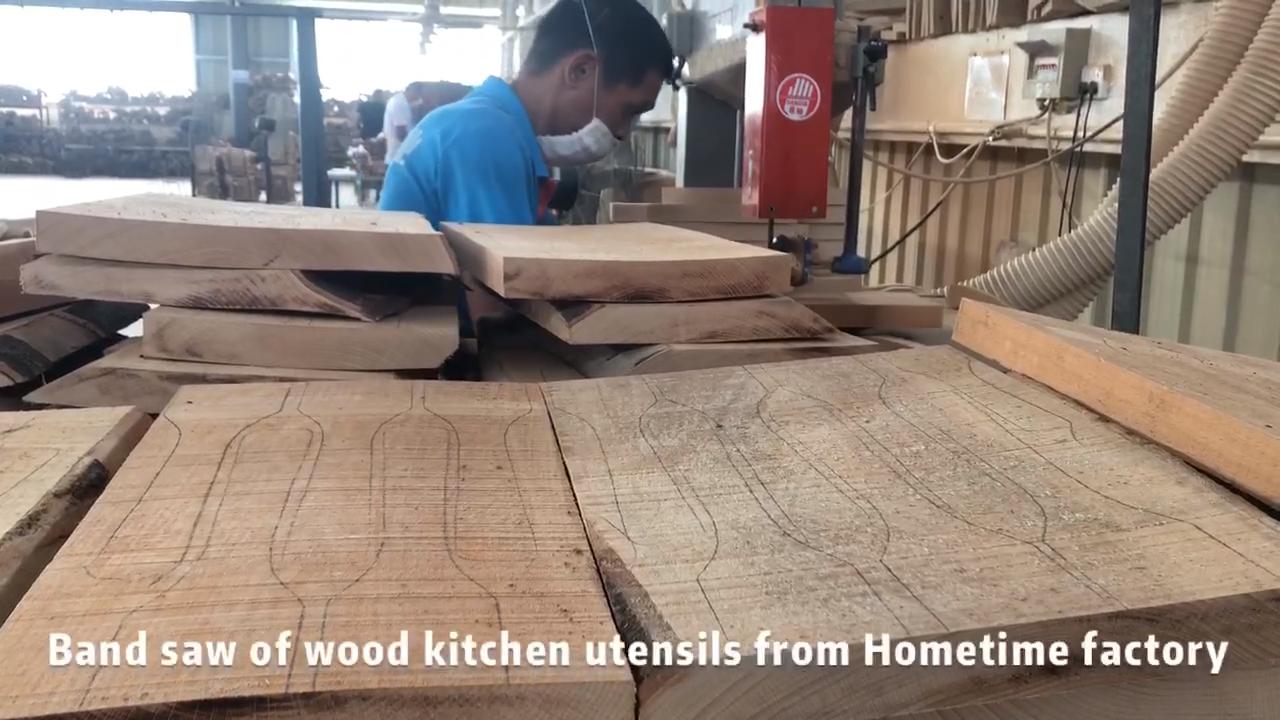 Amazon 2020 özelleştirilmiş kayın ahşap mutfak kaşığı Turner pişirme Spatula araçları mutfak eşyaları seti