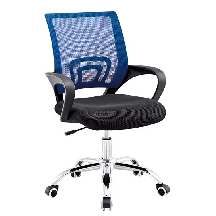 Großhandel neue stil handels büro möbel günstige ergonomische executive mitarbeiter verwendet einstellbare mesh büro stuhl mit rädern