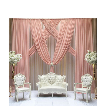 Baby pink 3m*3m wedding backdrop for wedding stage decoration