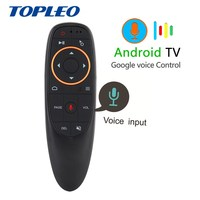 New Design G10 android smart tv tv box air mouse remote control one set open google voice assistant