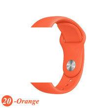 Силиконовый ремешок для Apple Watch 5, 4,44, 40, iwatch 3, 2, 1, 38, 42 мм, спортивный браслет, резиновый ремешок для часов Apple watch(Китай)