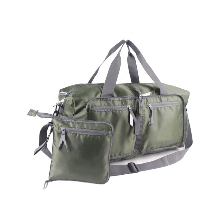 Eco friendly Foldable pouch bag fashion luggage duffel sports travel bag