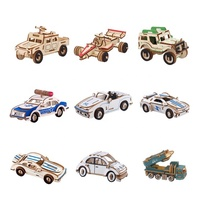 3D Car Puzzle Construction Jigsaw Kit Wooden Car Model Crafts For Decoration