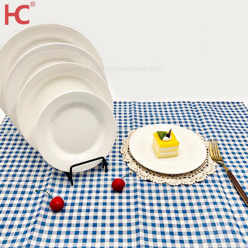 Witte Lader Plaat Plastic/ Melamine/Vergelijkbaar Keramische/Diner Plaat Gerechten Platen Sets Servies Restaurant Niet Wegwerp