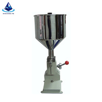 hot seal liquid stand up pouch spout manual machine/ filled liquid plastic spout pouch machine