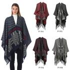 Hot!!! 50 Color stock Cheap China Winter Women Pashmina ponchos Tassel Shawl Cashmere wholesale blanket scarf shawl