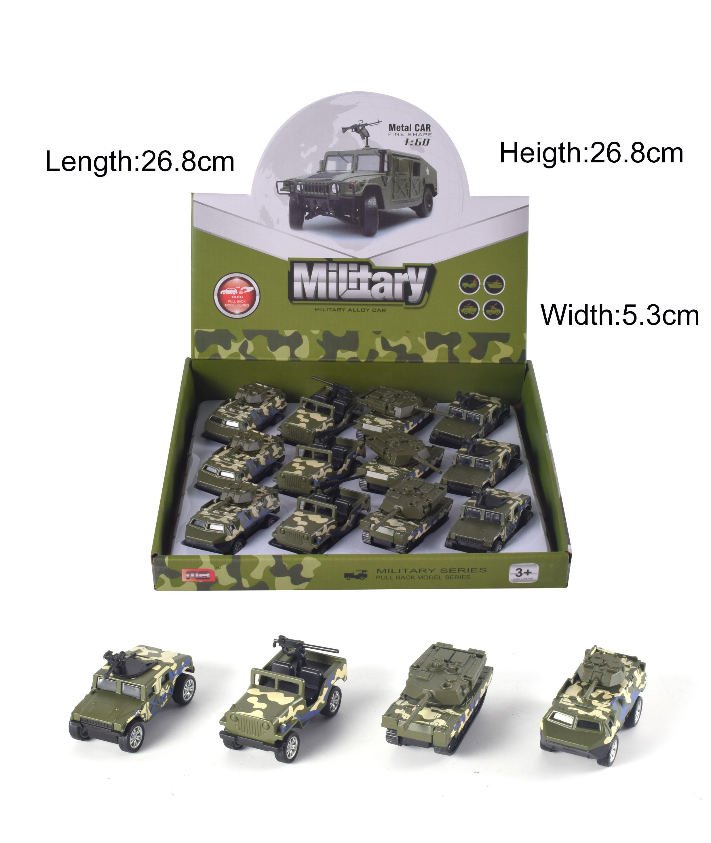 Spielzeuge LKW und Druckguss Auto 12 Stück Armee Militär Fahrzeug Set