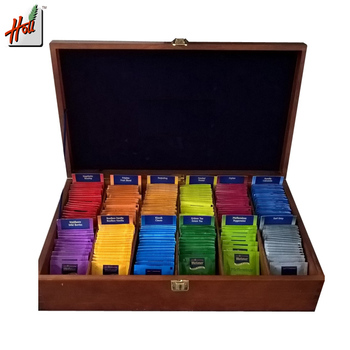 Luxury customized wooden tea bag storage box for gift and display