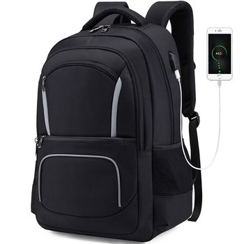 Factory Wholesale waterproof reflective laptop bag anti theft school backpack with usb charger