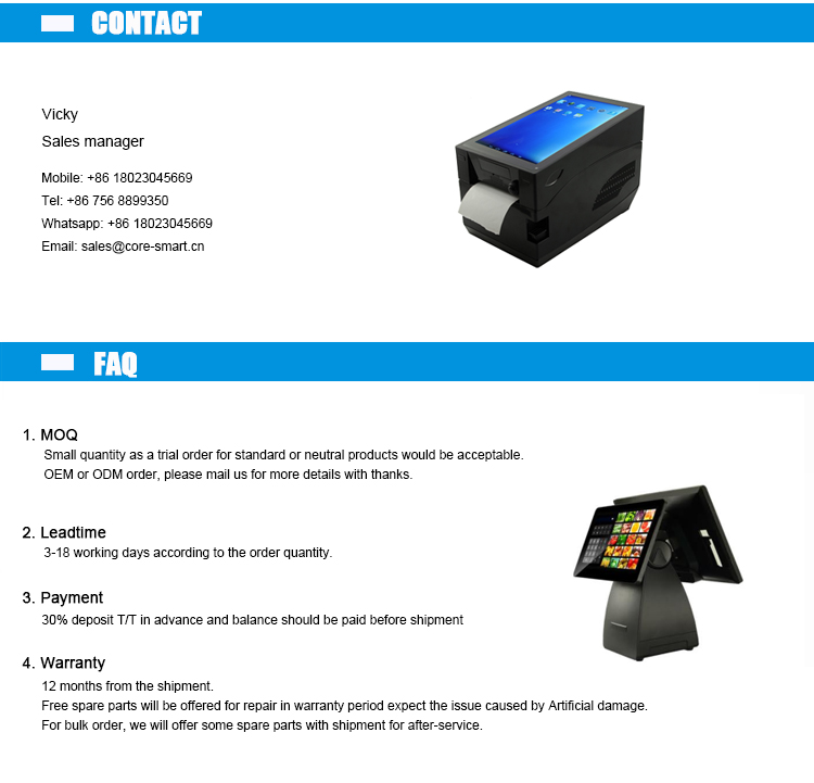 Android 7 4G 5.5 Inch Draagbare Mobiele Handheld Smart Android Pos Terminal Met 58 Thermische Printer