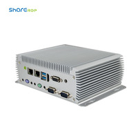 oem cheap desktop portable computer hardware linux fanless industrial mini itx pc case dual nic with serial port