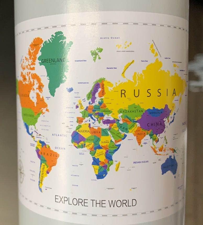 Heißer verkauf angepasst deluxe schwarz scratch off weltkarte geschenk welt karte mit UNS Staaten und Kanada Zustand