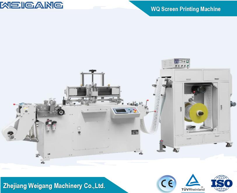 Automatic two colors roll to roll silk screen printing machine made in china for sale