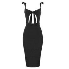 Женское Бандажное платье Ailigou, белое Клубное платье на тонких бретельках, черное Открытое вечернее платье знаменитости, лето 2020(Китай)