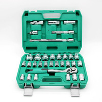 high quality tools box 32 pcs socket wrench set for car repairing
