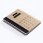 Spiral Notebook with Calculator cover Solar calculator notepad and stickers