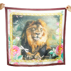Designer Inspired Custom Animal Printed Silk Cotton Scarf For Ladies