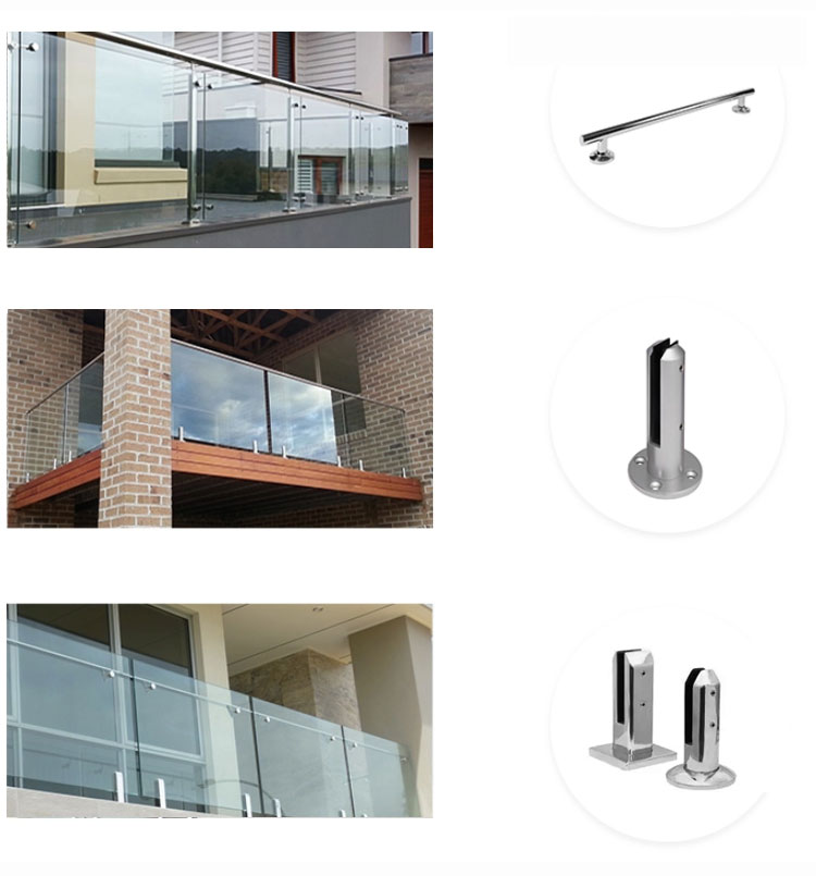 Australia standard high quality factory direct sale  aluminum alloy&glass fence or handrail or balustrade