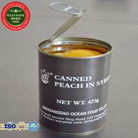 Soft and sweet yellow peach canned fruit tin pack
