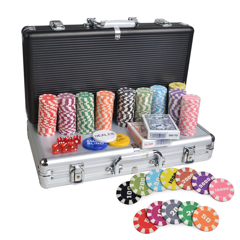 Fancy poker di chip set 200 pcs fare casino texas hold em poker chip