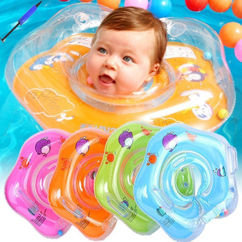 Baby swimming ring accessories neck loop tube safety baby floating ring bath inflatable baby swimming neck ring