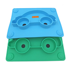 BPA free food grade unique silicone plate baby rubber plate for toddler suction