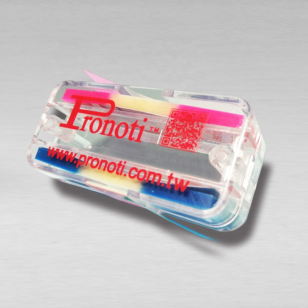 Easy carry rectangle dispenser with colorful printing flags