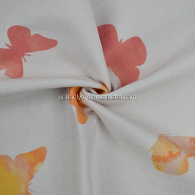 Bán Buôn Trái Cây Hữu Cơ Cotton Lycra Pháp Terry Vải In Kỹ Thuật Số Cho Trẻ Sơ Sinh Quần Áo CT105