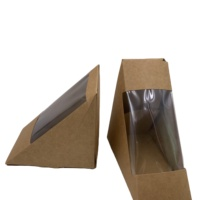Various Sizes Wedge Sturdy Brown Paper Sandwich Kraft Box