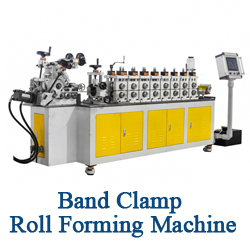 Great High Efficiency Customized Steel Metal V Band Clamp Barrel Hoop Roll Forming Making Machinery