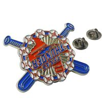 High quality custom made metal die cut enamel pins badges
