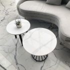 Color Table White Cut-to-size Quartz Tabletop White Color Custom Design Coffee Table Marble TOP