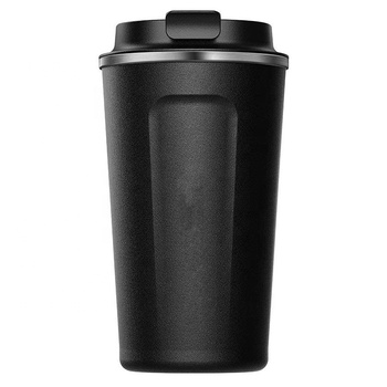 Double Wall Stainless Steel Vacuum Coffee Tumbler Custom Logo 16 oz Coffee to Go Cup with Lid