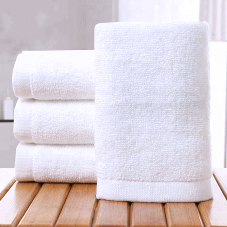 100% Cotton Luxury Hotel Plain Weave Face Hand Bath Towel Set with Customized Logo
