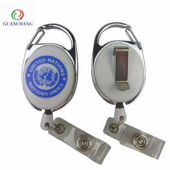 Hot selling fashion retractable yoyo id card badge reels holder