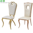 Cheap Manufacturing New Design Modern Wholesale Hotel Stainless Steel Legs Wedding Banquet Dining Easy Chair