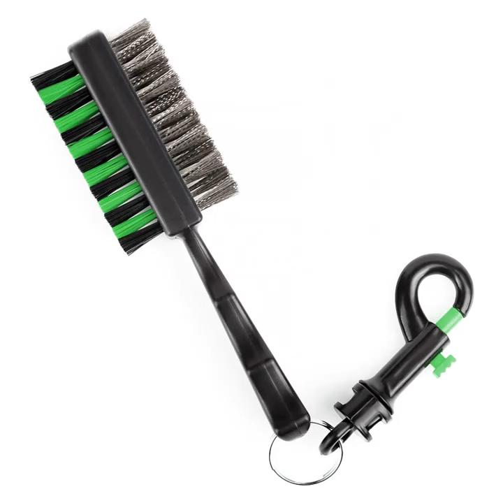 2 боковых гольф-клуба щеточка для чистки с зажимом для игры в гольф клуб Кисть инструмент щеточка для чистки 2 боковых Golfer очиститель