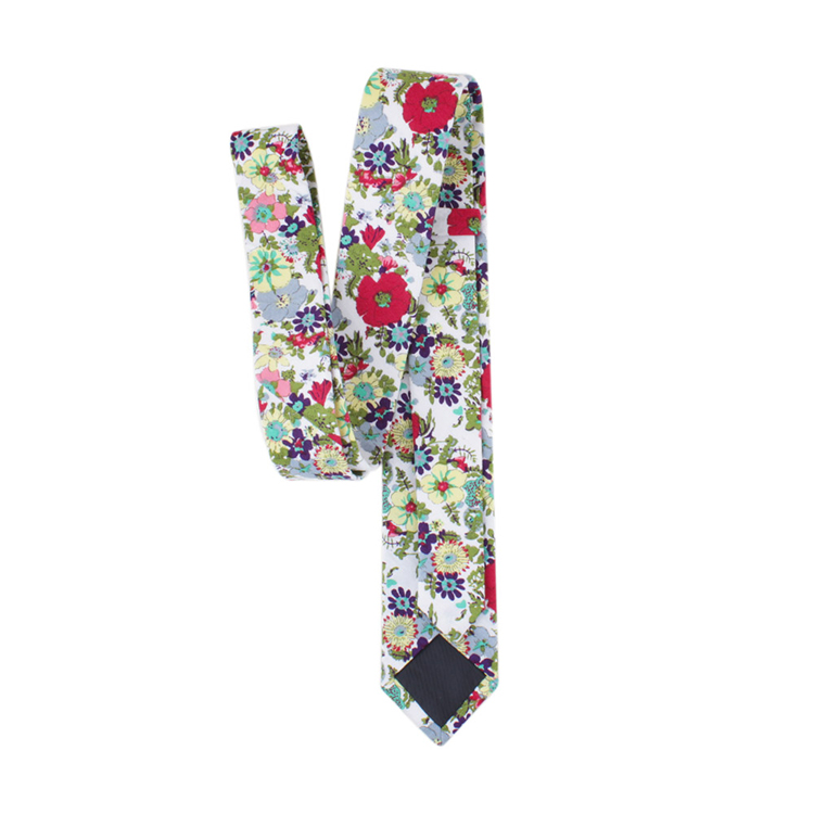 Hot Sale Colorful Floral Ties Casual Mens Cotton Print Necktie