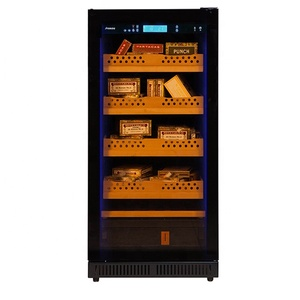 800 Cigars Wooden Shelves Freedtanding Cigar Humidor and Refrigerator with Single Cooling Zones and Upper Control Panel