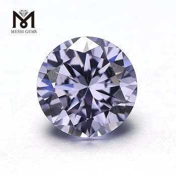 Factory High Quality Round Machine Cut Lavender synthetic cubic zirconia
