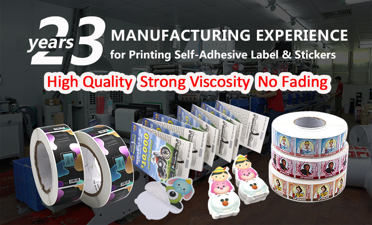 Custom High Quality Adhesive Embossed Silver Gold Foil Coated Paper Label Sticker