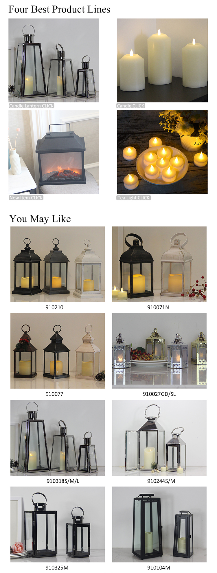 Wedding home decor black modern moroccan led tea light candle holder Mini candle Lanterns