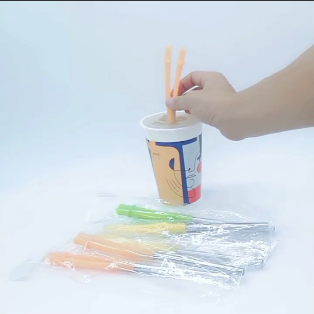 Amazon Ins New Style Wholesale Lovers 304 stainless steel straws set